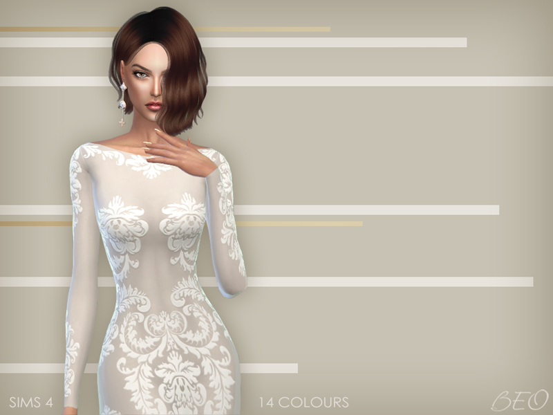 Anveay dress for The Sims 4 by BEO