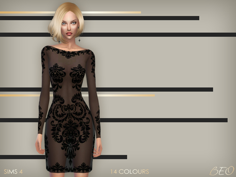 Anveay dress for The Sims 4 by BEO (3)