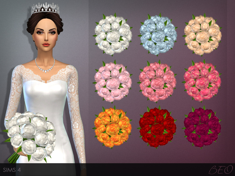 Wedding bouquet for The Sims 4 by BEO