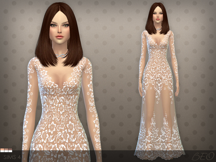 Dress 026 for The Sims 4 by BEO