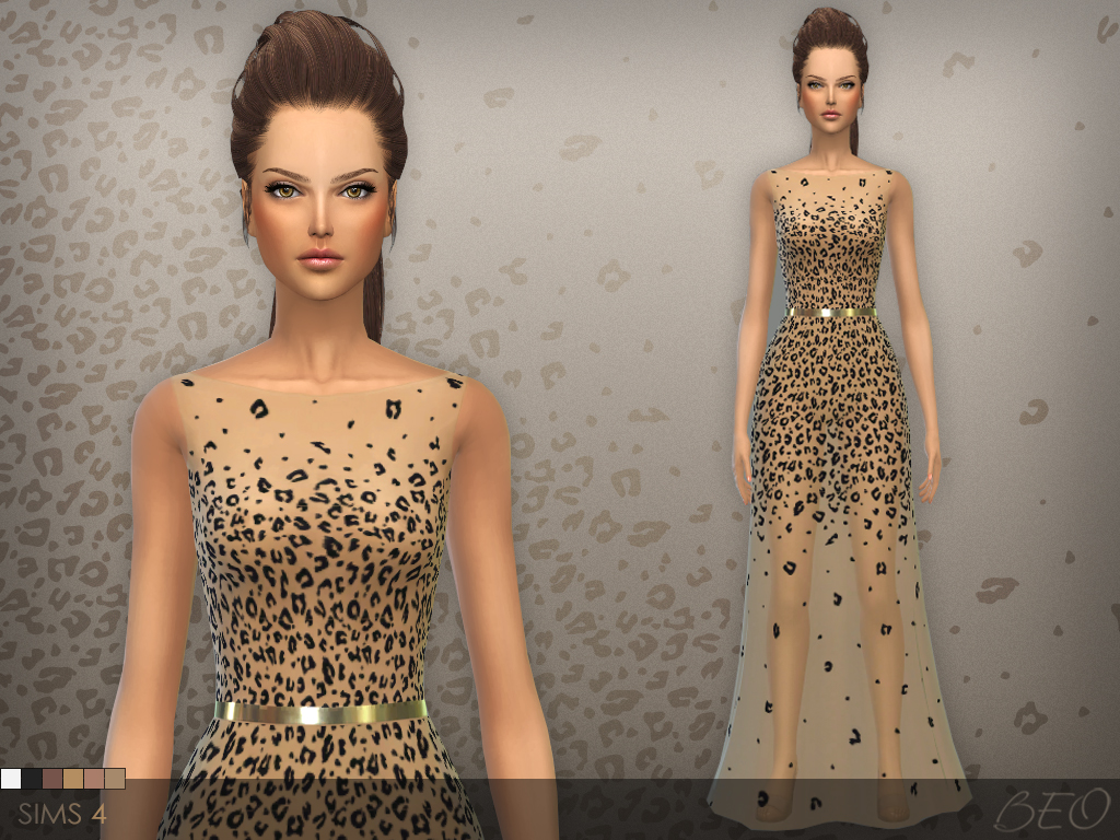 Dress 027 for The Sims 4 by BEO