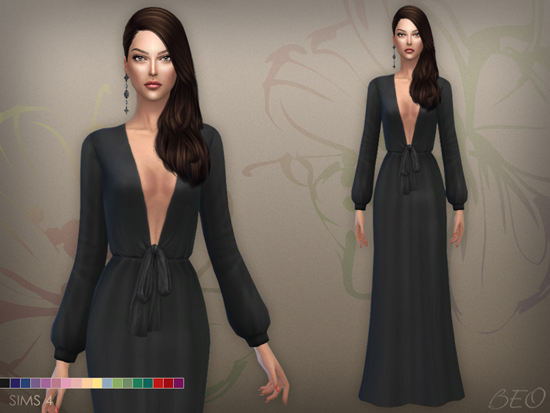 Dress 030 (S3 conversion) for The Sims 4 by BEO