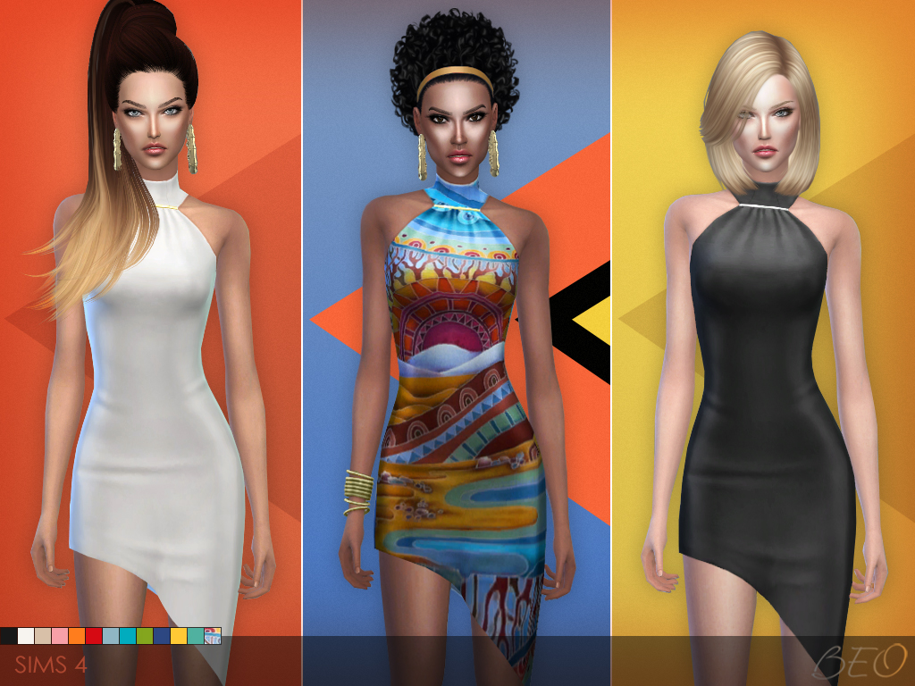 Cocktail dress 01 for The Sims 4 by BEO
