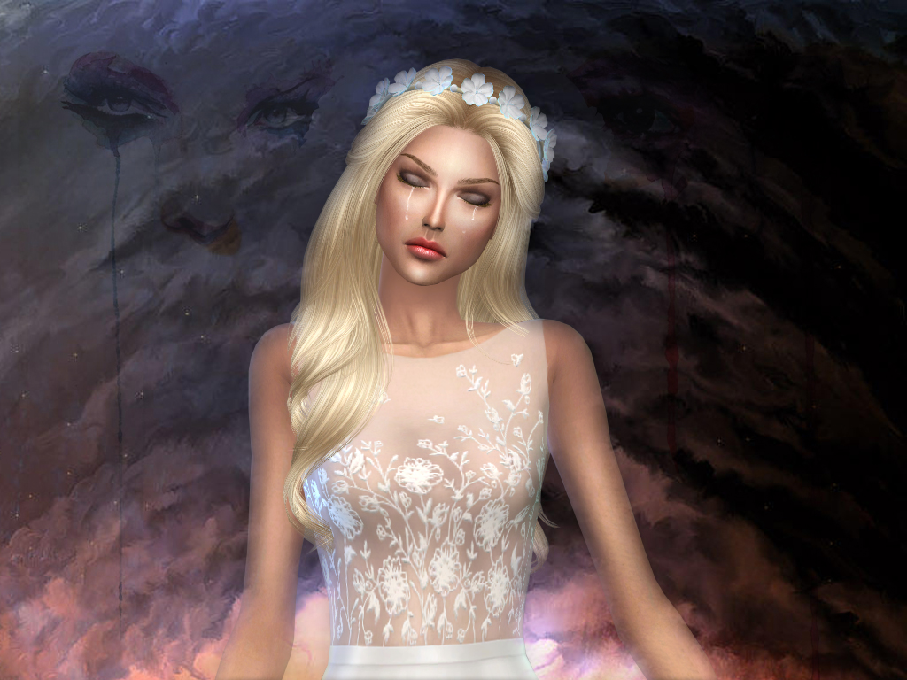 Embroidered transparent top dress 02 for The Sims 4 (3)