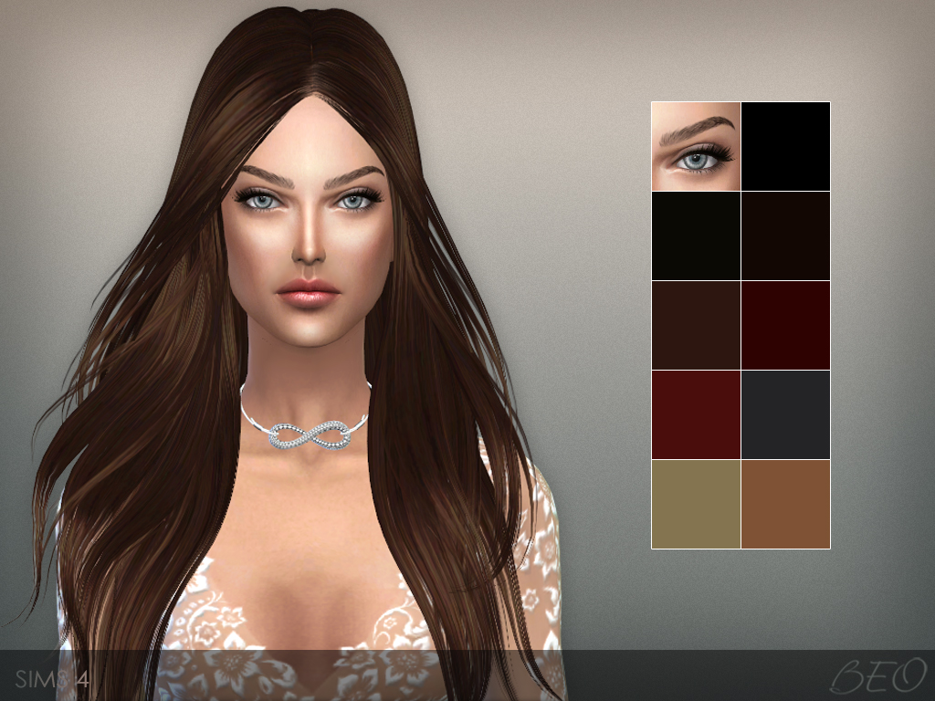 Eyebrows 01 The Sims 4 by BEO