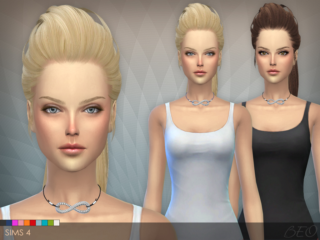 Infinity cord necklace The Sims 4 by BEO