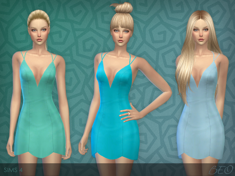 Little dress for The Sims 4 (3)