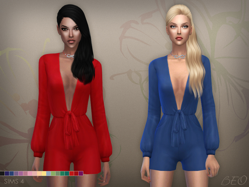 Playsuit (S3 conversion) for The Sims 4 by BEO
