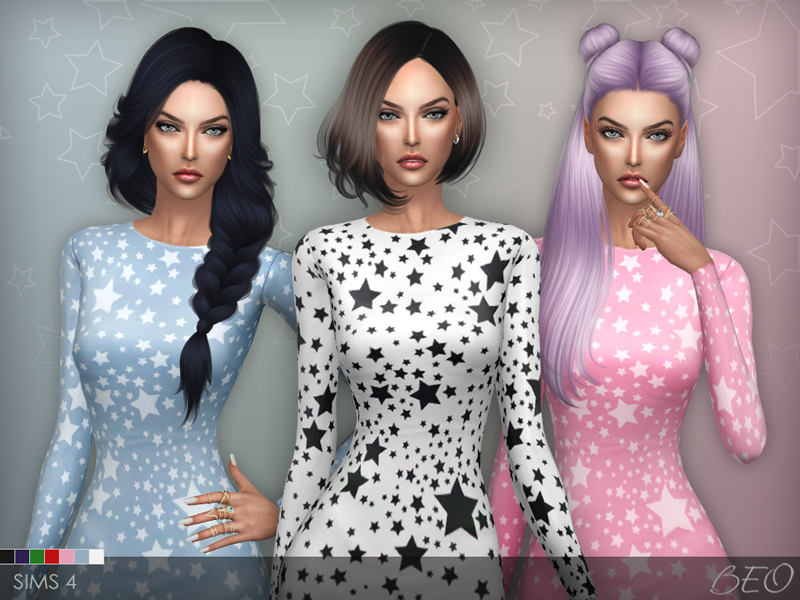 Dress - Stars for The Sims 4 by BEO