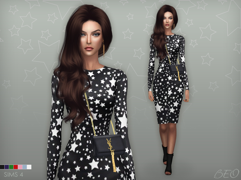 Dress - Stars for The Sims 4 by BEO (2)