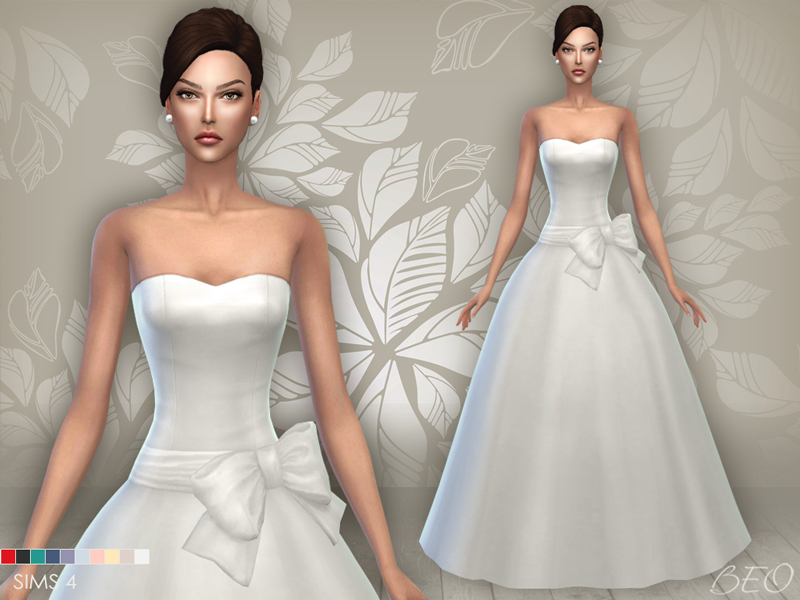 Wedding dress 04 for The Sims 4 by BEO