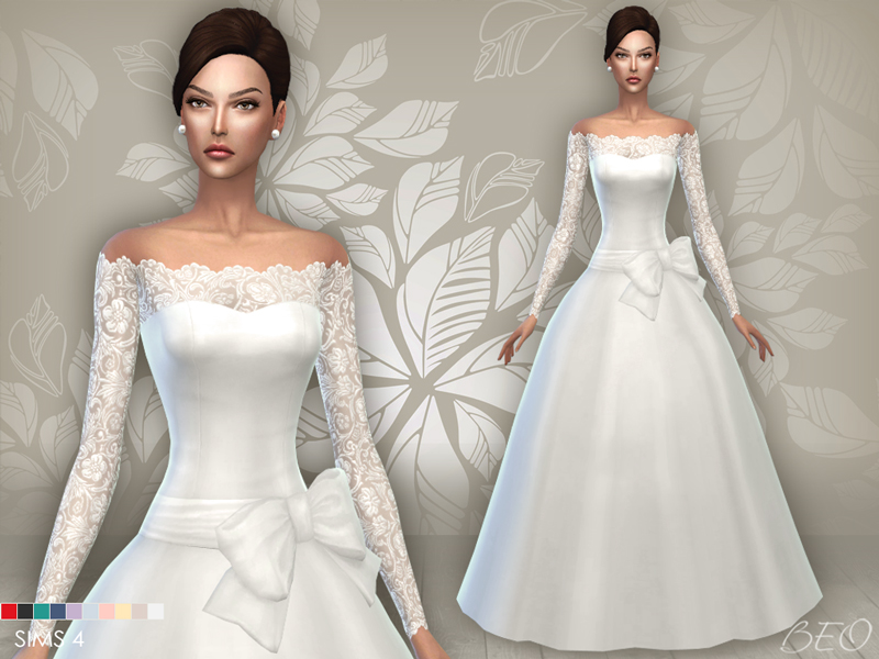 Sims 4 Wedding Veil.Beo Creations Clothing