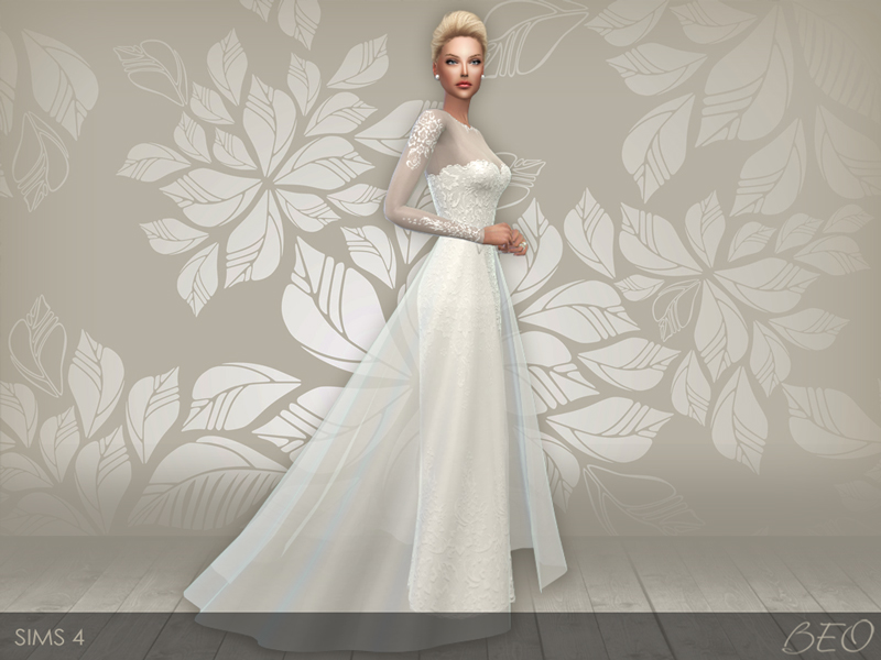 Wedding dress 28 for The Sims 4 (2)