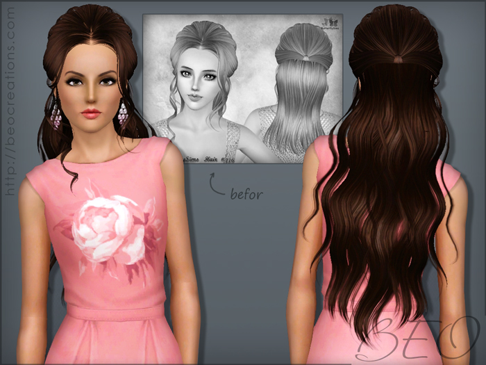 Synthesis Butterfly 116 and Newsea J018 Hair for Sims 3 by BEO