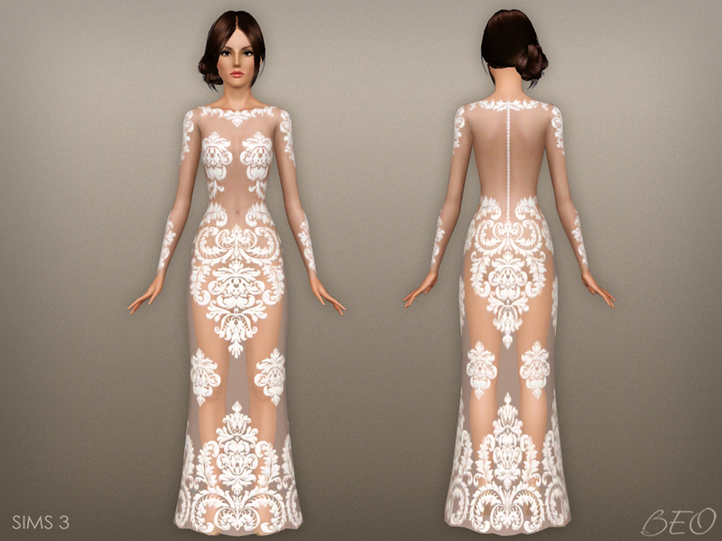 Dress - Anveay for The Sims 3 by BEO