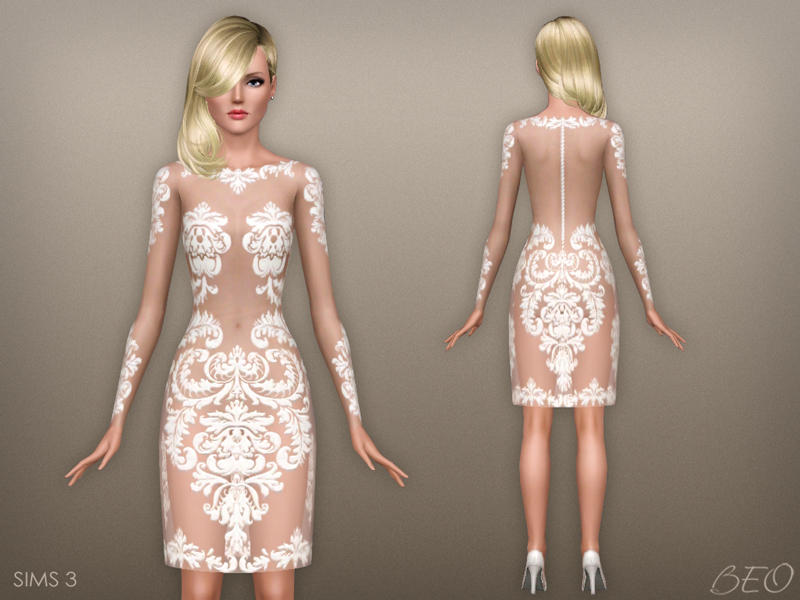 Dress - Anveay 02 for The Sims 3 by BEO