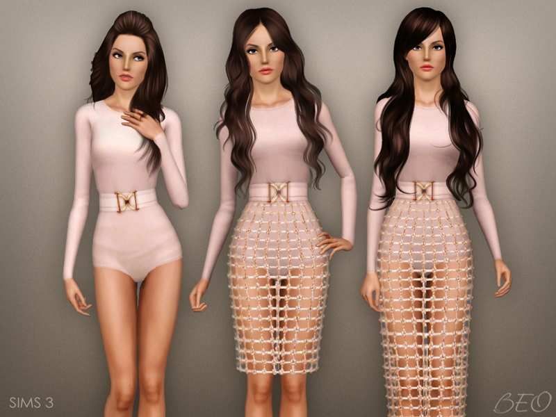 Balmain inspiration collection for The Sims 3 by BEO