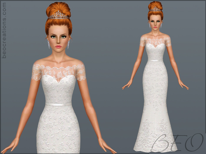 Wedding dress 17 for Sims 3 by BEO