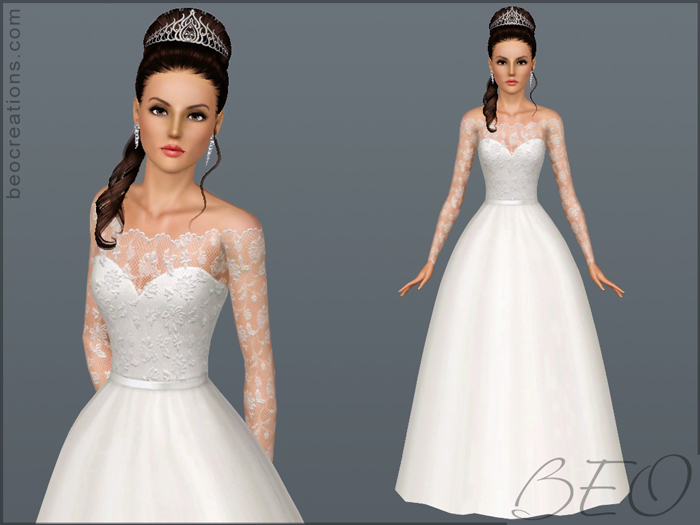 Wedding dress 18 for Sims 3 by BEO