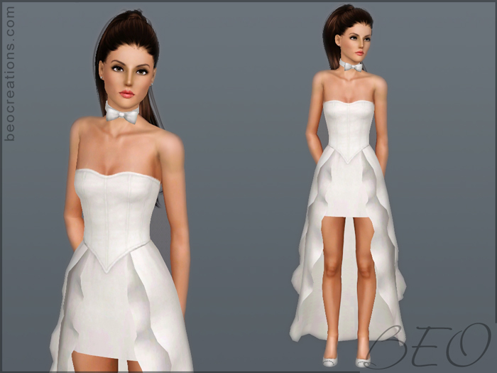 Wedding dress 19 for Sims 3 by BEO