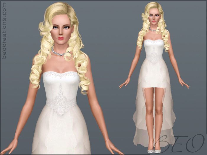 Wedding dress 20 for Sims 3 by BEO