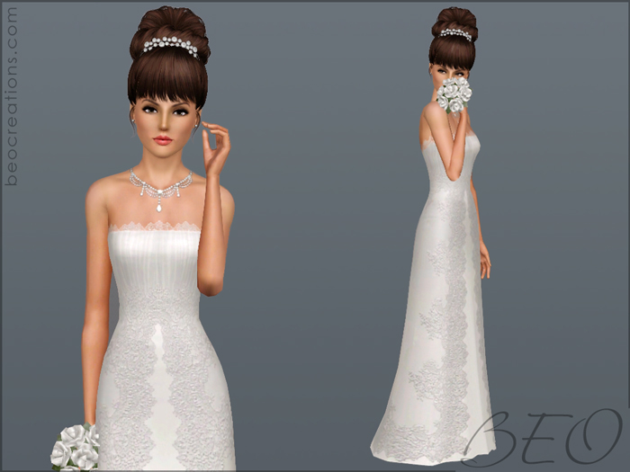 Wedding dress 23 for Sims 3 by BEO