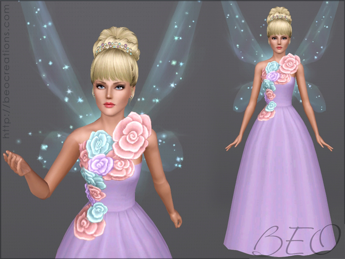 Fairy wedding dress 24 for Sims 3 by BEO