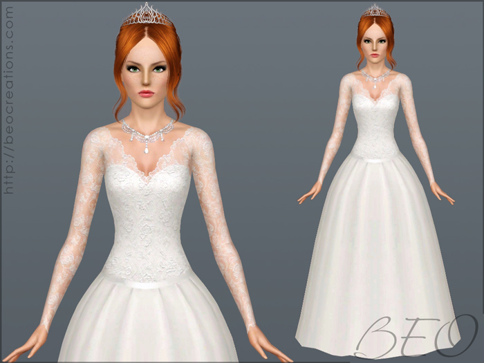 Wedding dress 25 V.1 for Sims 3 by BEO