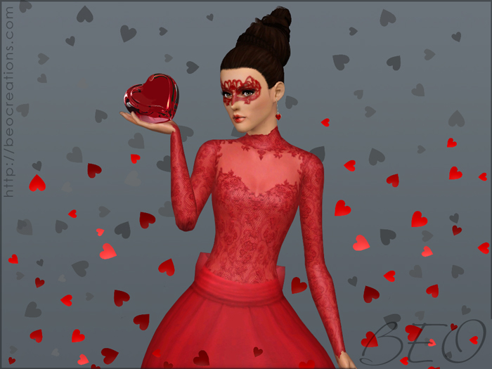 Valentine's Wedding dress for Sims 3 by BEO (4)