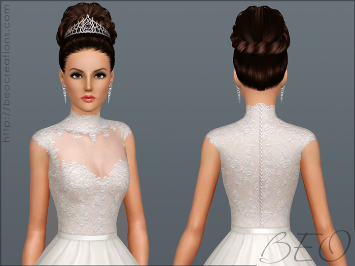 Wedding dress 27 for Sims 3 by BEO (1)