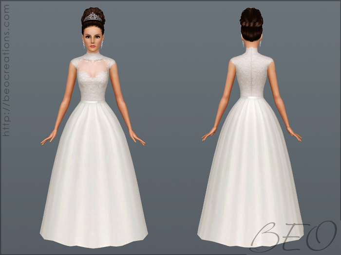 Wedding dress 27 for Sims 3 by BEO (2)