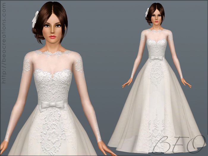 Wedding dress 28 for Sims 3 by BEO