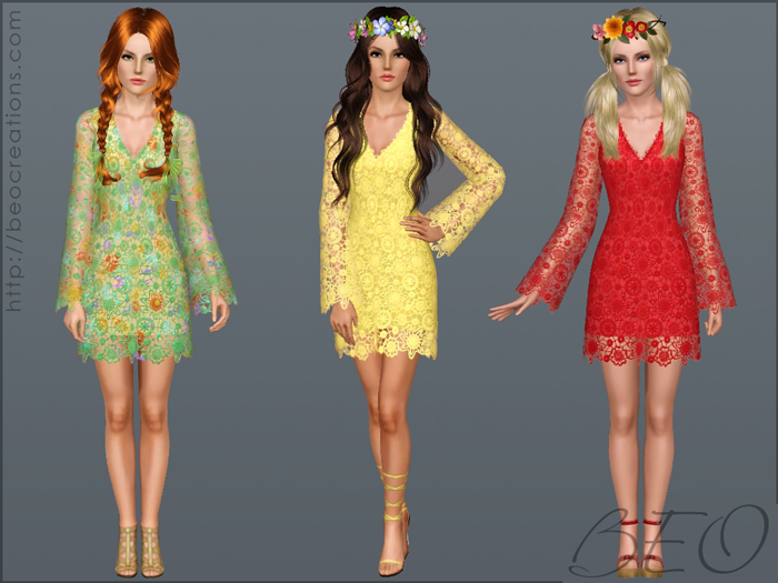 Wedding dress 29 for Sims 3 by BEO (2)