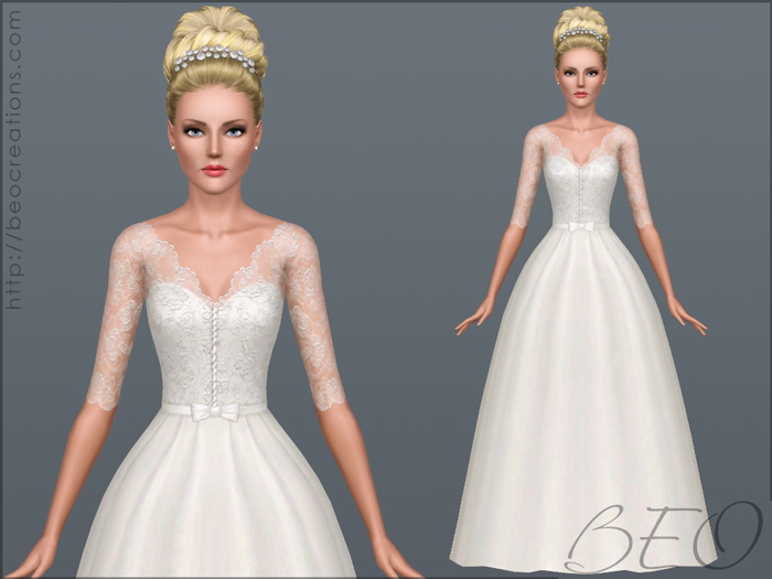 Wedding dress 30 for Sims 3 by BEO