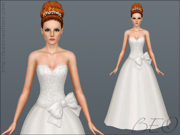Wedding dress 32 for Sims 3 by BEO