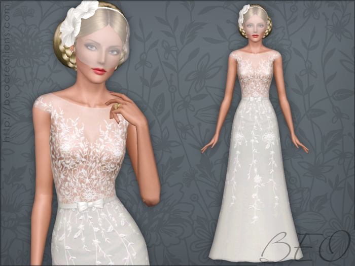 Wedding dress 34 for Sims 3 by BEO (1)