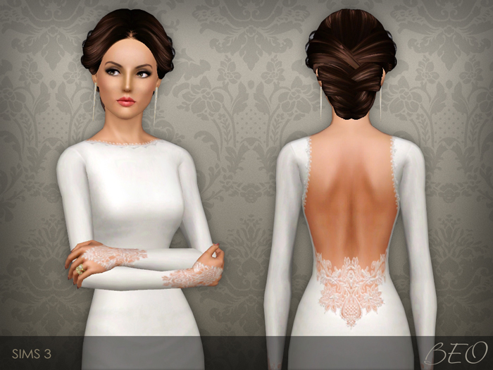 Wedding dress 35 for The Sims 3 by BEO