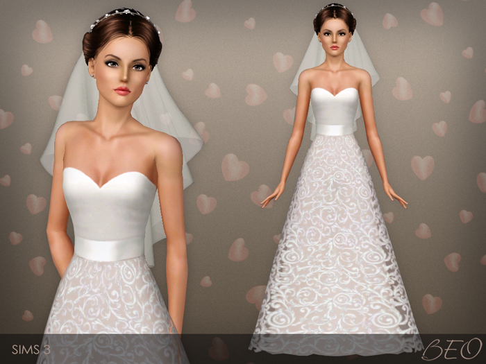 Wedding dress 36 for The Sims 3 by BEO