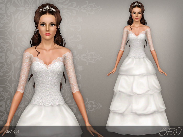 Wedding dress 37 for Sims 3 by BEO (1)