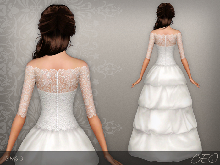Wedding dress 37 for Sims 3 by BEO (2)