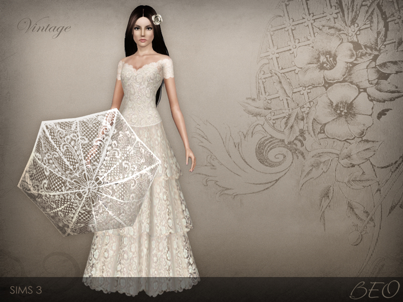 Wedding dress 38 for The Sims 3
