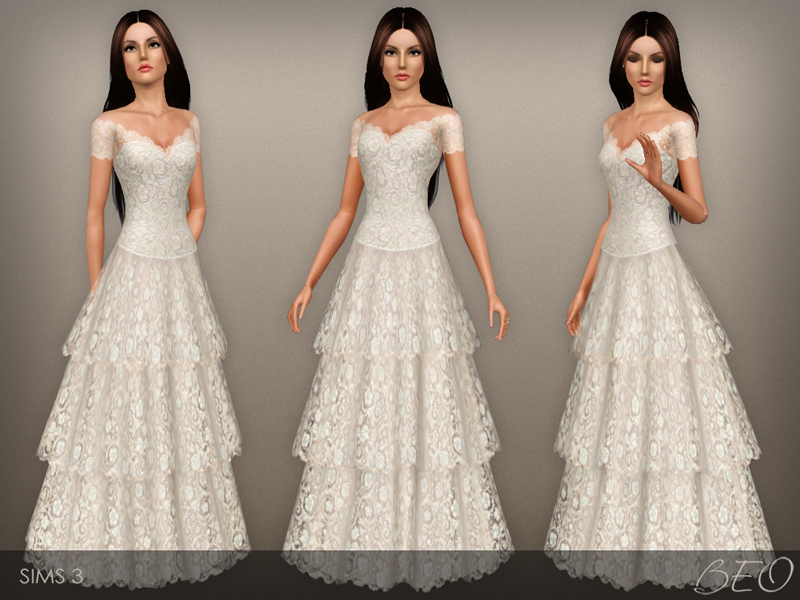 Wedding dress 38 for Sims 3 by BEO (2)