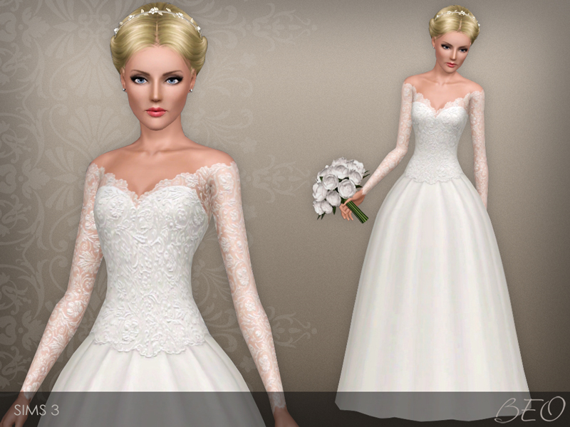Wedding dress 39 for Sims 3 by BEO (1)