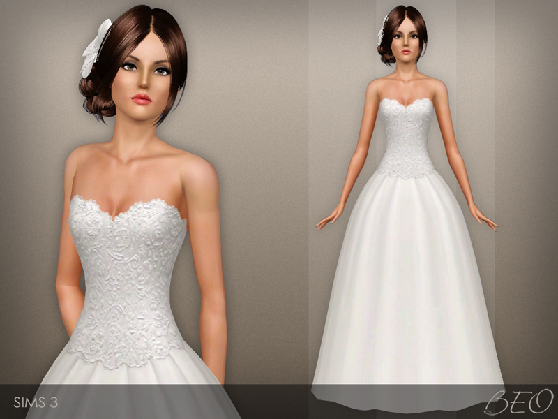 Wedding dress 41 for The Sims 3