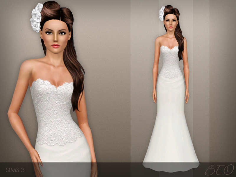 Wedding dress 42 for The Sims 3