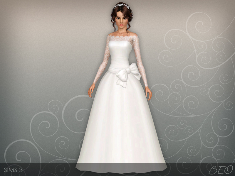 Wedding dress 45 for The Sims 3