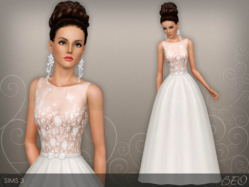 Wedding dress 46 for Sims 3 by BEO (1)