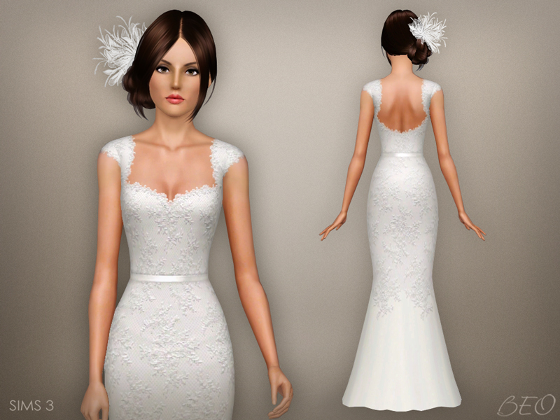 Wedding dress 48 for The Sims 3