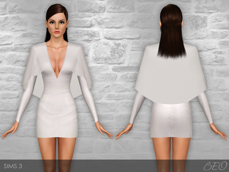 Cape dress for The Sims 3