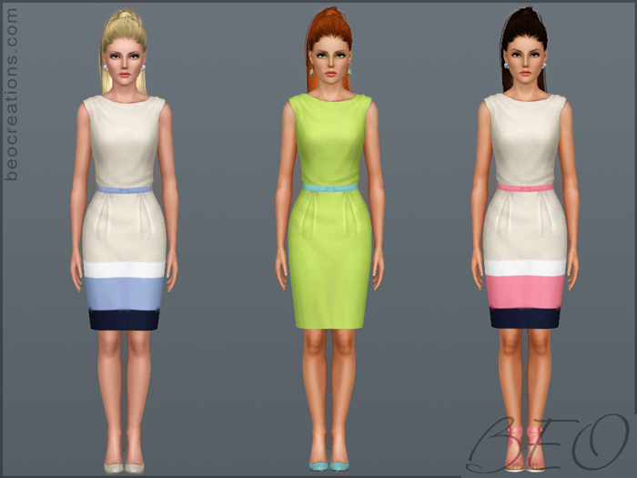 dress city girl for Sims 3 by BEO